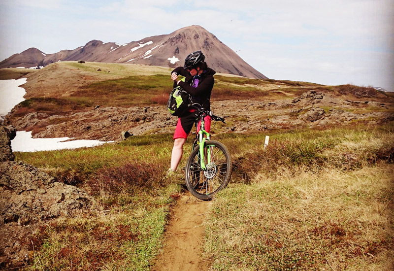 Mountain Bike og naturbad myvatn
